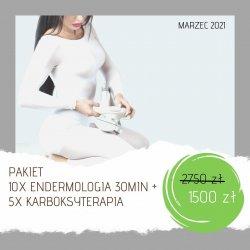 Endermologia - pakiet 10 zabiegów + 5 zabiegów karboksyterapii